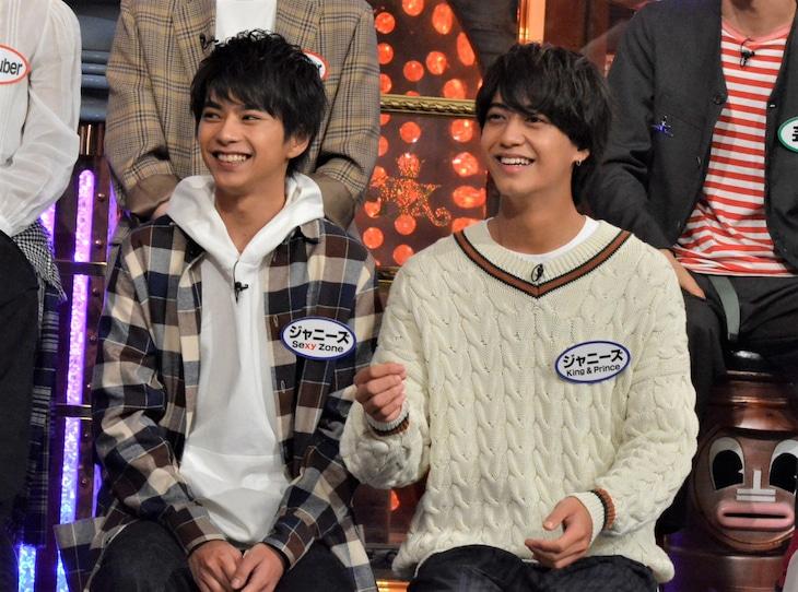 左から佐藤勝利(Sexy Zone)、高橋海人(King & Prince)。(c)日本テレビ