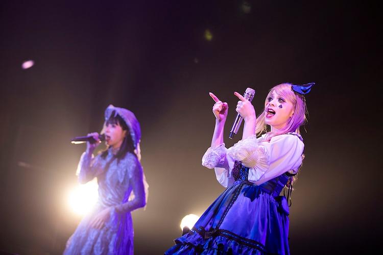左からmanaco、メイリア(Vo / GARNiDELiA)。(撮影:冨田味我)