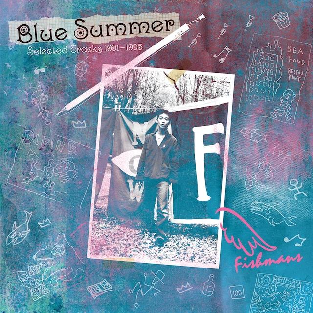 """アナログLP2枚組作品「BLUE SUMMER~Selected Tracks 1991-1995~」。茂木欣一(Dr)が""""レコードで聴いて欲しいベスト選曲""""をテーマに初期音源から厳選した全13曲を収録。(発売日:2018年8月1日)"""