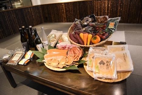 越前福井フェアで使用される食材や提供される酒の一部。