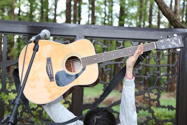 歌うギター(を持つカイ)。