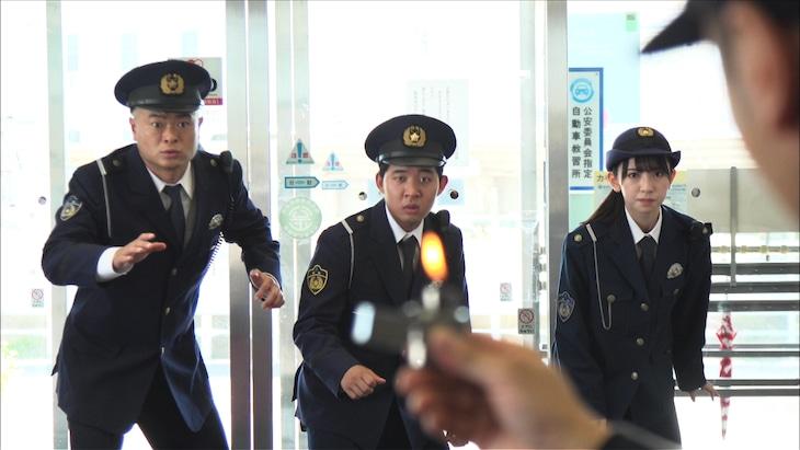 左からあばれる君、後藤拓実(四千頭身)、金村美玖(日向坂46)。(c)日本テレビ
