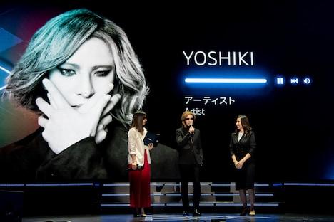 「Brandcast 2019 Japan」YOSHIKI登場時の様子。