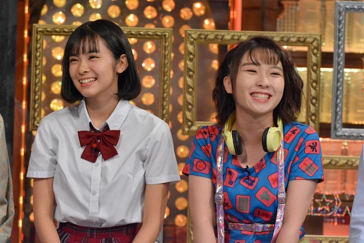 左から山崎夢羽、高瀬くるみ(BEYOOOOONDS)。 (c)日本テレビ