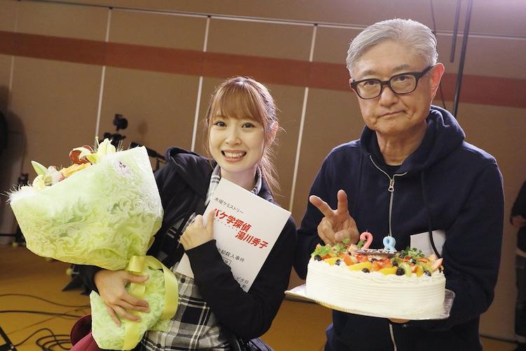 左から高柳明音(SKE48)、堤幸彦監督。