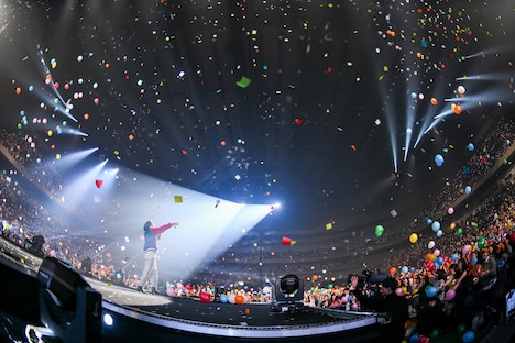 「Nulbarich ONE MAN LIVE -A STORY- at SAITAMA SUPER ARENA」の様子。(撮影:岸田哲平、本田裕二)