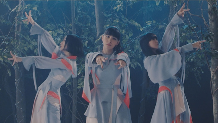 Perfume「再生」ミュージックビデオのワンシーン。