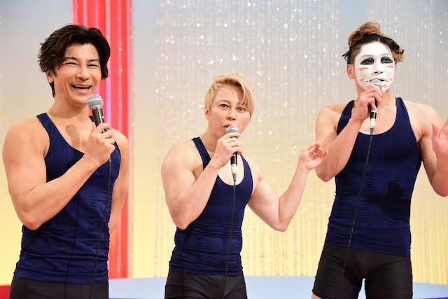 左から武田真治、西川貴教、樽美酒研二。