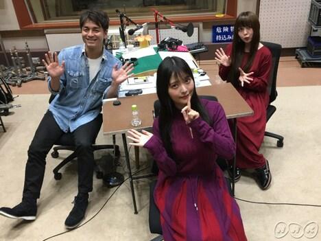 左から鮎貝健、上坂すみれ、南波志帆。(写真提供:NHK)