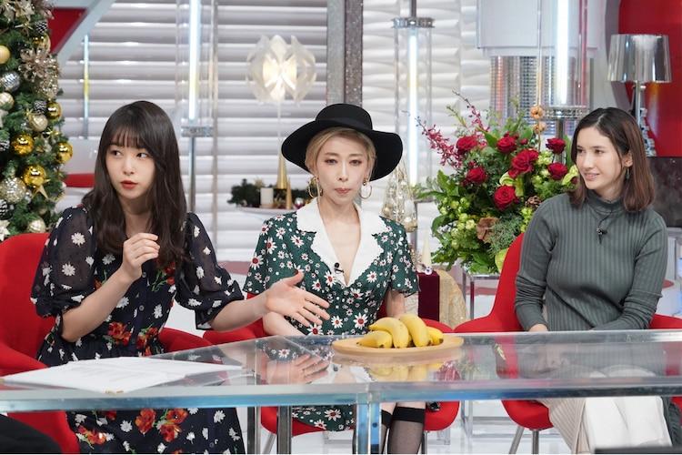 左から桜井日奈子、加藤ミリヤ、市川紗椰。(c)日本テレビ