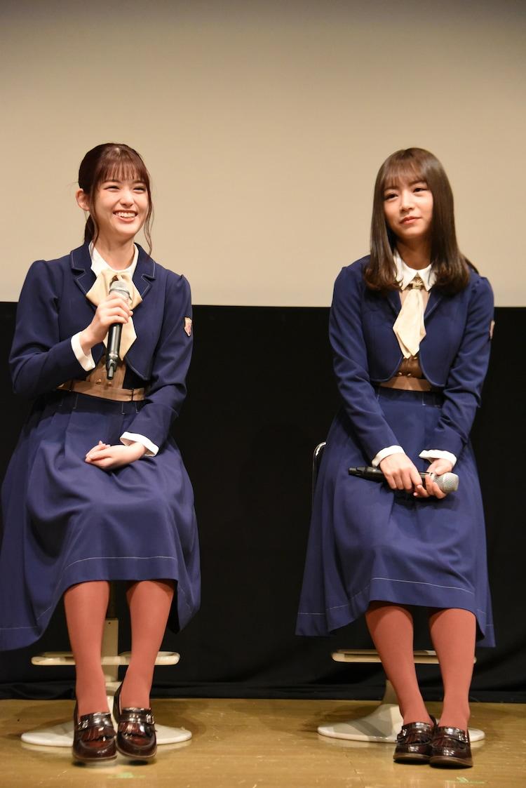 左から松村沙友理、北野日奈子。