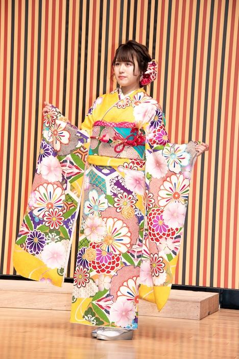 今年1月に行われた成人式での福士奈央。