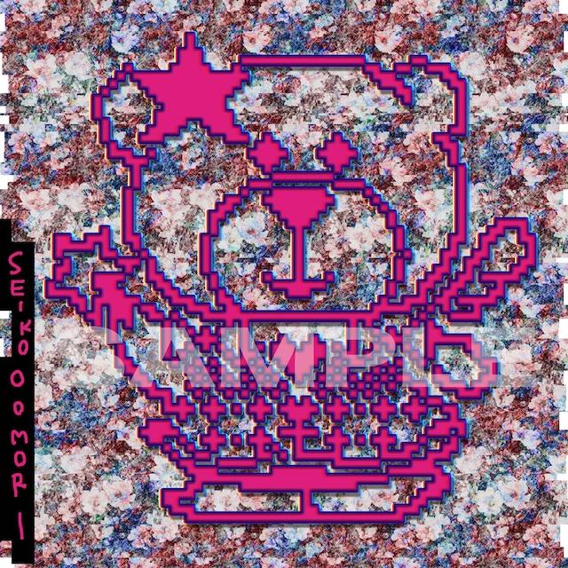 大森靖子「大森靖子」HMV特典「オリジナルナナちゃんステッカー」のデザイン。