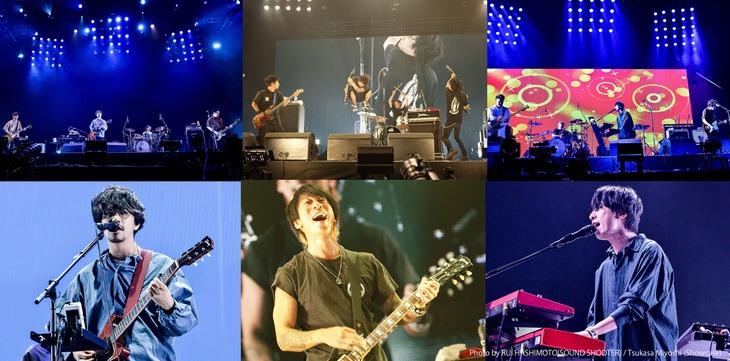 WOWOWライブ「NANA-IRO ELECTRIC TOUR 2019 Special アジカン×エルレ×テナー MUSIC VIDEO COLLECTION」ビジュアル(Photo by RUI HASHIMOTO / Tsukasa Miyoshi)