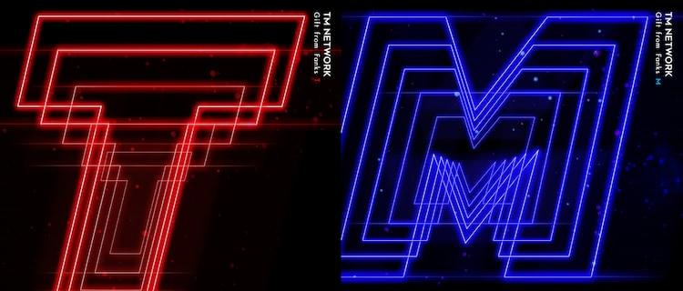 TM NETWORK「Gift from Fanks T」「Gift from Fanks M」ジャケット
