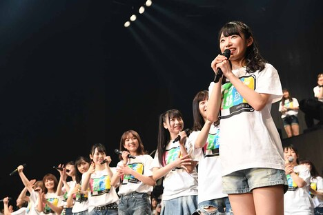AKB48の57thシングルのセンターに抜擢された山内瑞葵。(c)AKS