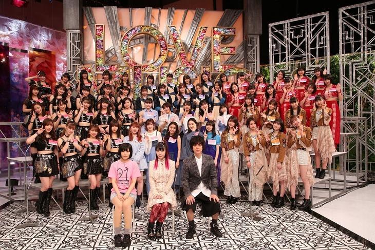 「Love music」2月2日放送回出演者。(c)フジテレビ