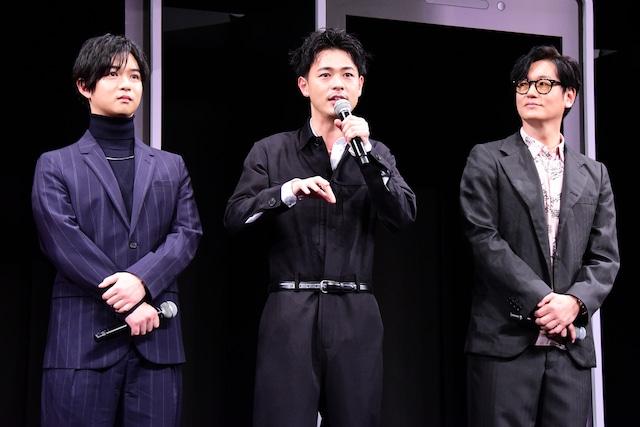 左から千葉雄大、成田凌、井浦新。