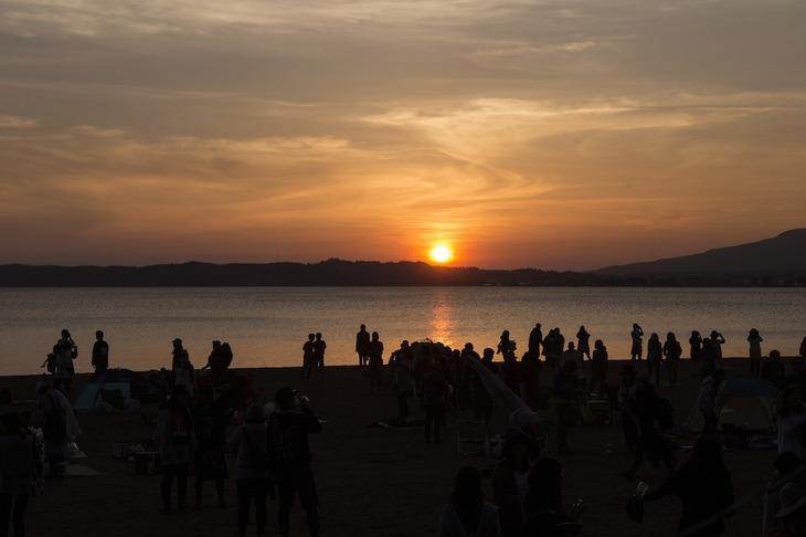 福島・猪苗代湖の景色。