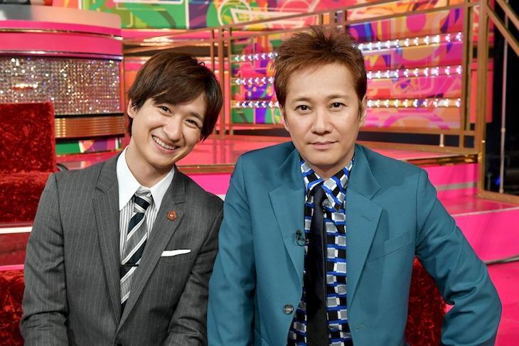 左から宮田俊哉(舞祭組)、中居正広。 (c)TBS