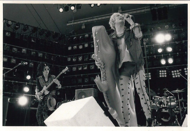 1988年8月に東京・よみうりらんどEASTで行われたライブイベント「ワンダーランドロックフェス」出演時の様子。