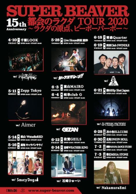 「SUPER BEAVER 15th Anniversary『都会のラクダ』TOUR 2020~ラクダの原点、ピーポーパーポー~」告知ビジュアル