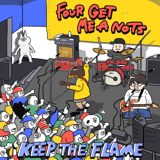FOUR GET ME A NOTS「KEEP THE FLAME」ジャケット