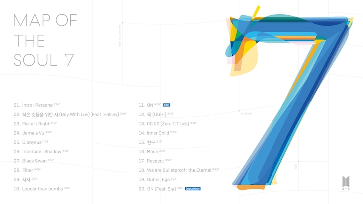 BTS「MAP OF THE SOUL:7」収録曲