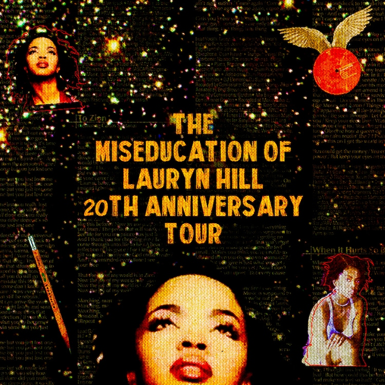 ローリン・ヒル「THE MISEDUCATION OF LAURYN HILL 20TH ANNIVERSARY TOUR」告知ビジュアル