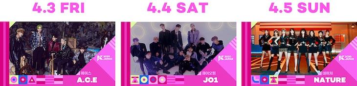 「KCON 2020 JAPAN×M COUNTDOWN」出演アーティスト第3弾