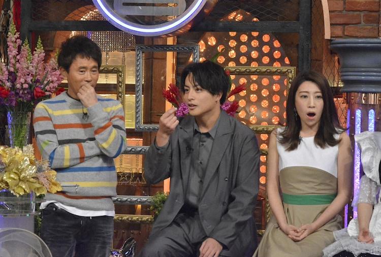 左から浜田雅功、白濱亜嵐、木嶋真優。(c)NTV