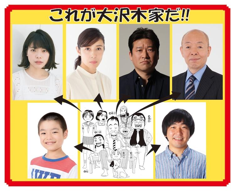 ドラマ「浦安鉄筋家族」で大沢木家の人々を演じるキャスト。(c)浜岡賢次(秋田書店)1993