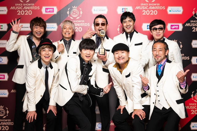 BEST RESPECT ARTISTを受賞した東京スカパラダイスオーケストラ。
