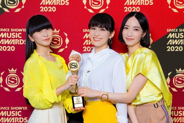 BEST ACTIVE OVERSEASを受賞したPerfume。