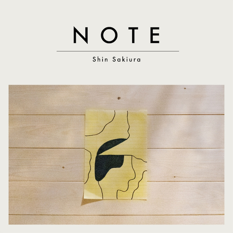 Shin Sakiura「NOTE」ジャケット