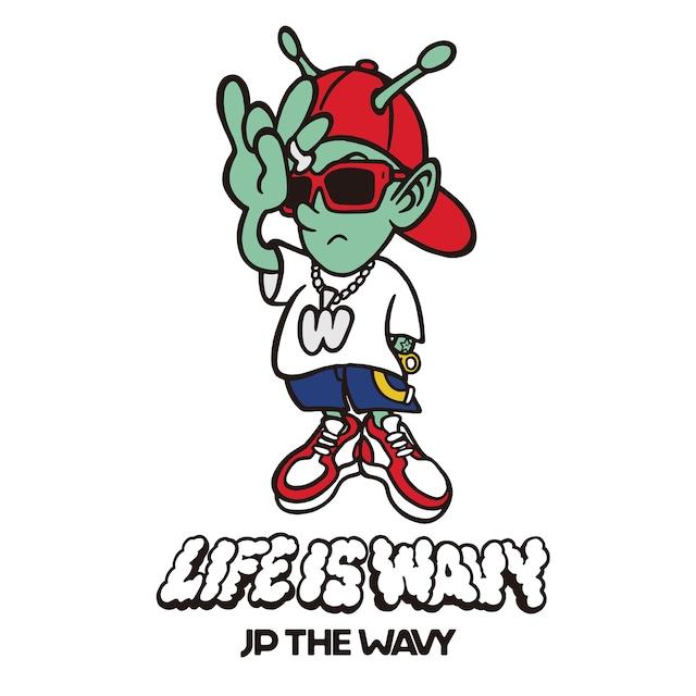 JP THE WAVY「LIFE IS WAVY」ジャケット