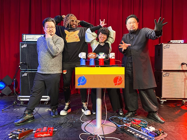左から休日課長(ゲスの極み乙女。)、サンダーキャット、中村佳穂、吉田一郎不可触世界。