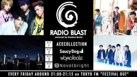 「RADIO BLAST powered by Fanplus Music」告知ビジュアル