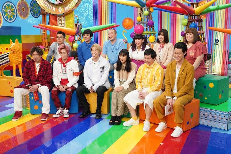 上段左からハナコ、3時のヒロイン。下段左からEXIT、RIKU(THE RAMPAGE from EXILE TRIBE)、大友花恋、霜降り明星。(c)NTV