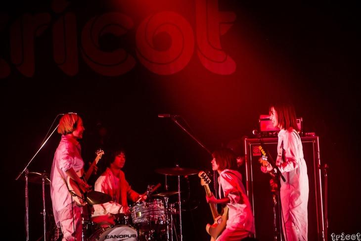 tricotが3月14日に東京・Zepp DiverCity TOKYOで開催した無観客ライブの様子。(写真提供:エイベックス)