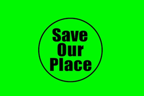 「Save Our Place」ロゴ