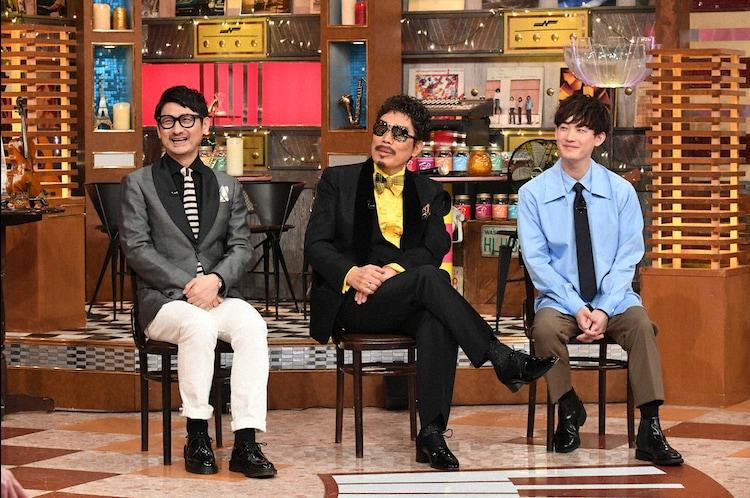 左から松尾潔、鈴木雅之、向井太一。(c)テレビ朝日