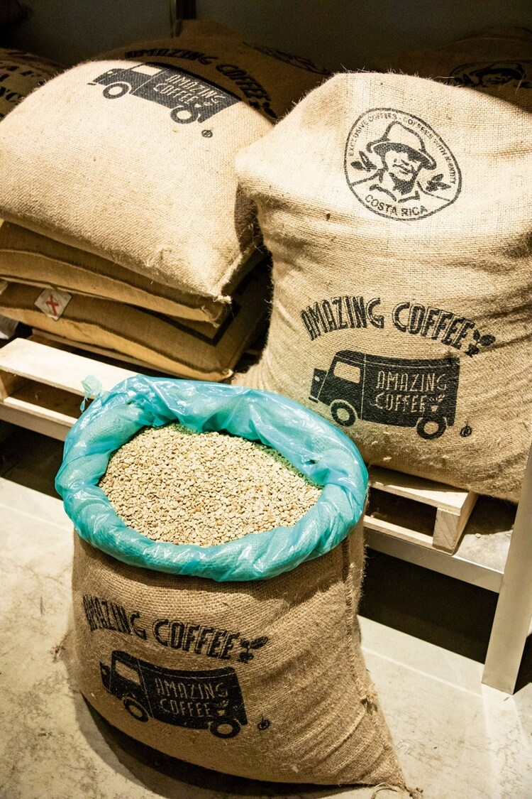 AMAZING COFFEEで取り扱うコーヒー豆。