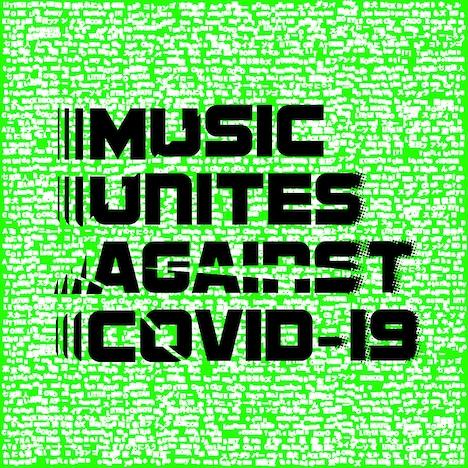 「MUSIC UNITES AGAINST COVID-19」ロゴ