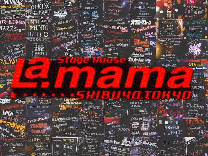 渋谷La.mamaのビジュアル。