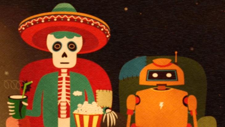 カミナリグモ「夜明けのスケルトン」ミュージックビデオのワンシーン。