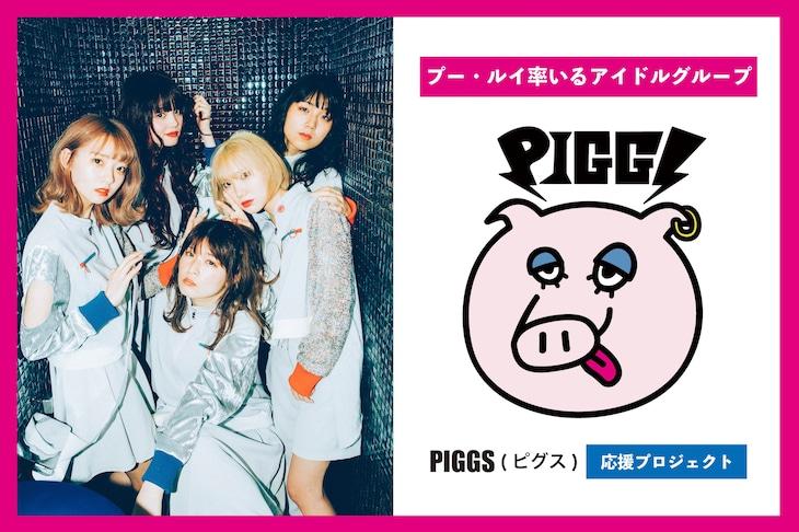 PIGGSクラウドファンディング告知ビジュアル