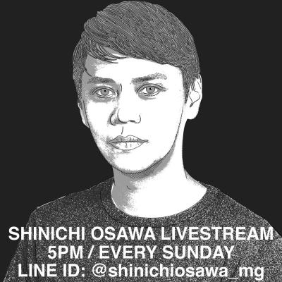 LINE LIVE「SHINICHI OSAWA LIVESTREAM」告知画像