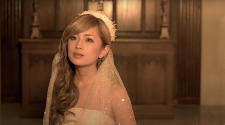 浜崎あゆみ「M」ミュージックビデオより。