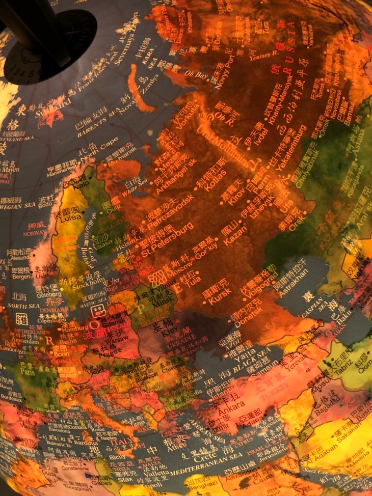 DEAN FUJIOKAの地球儀。